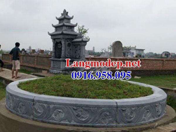 Mộ đá tròn chạm khắc tinh xảo đẹp tại Đồng Tháp