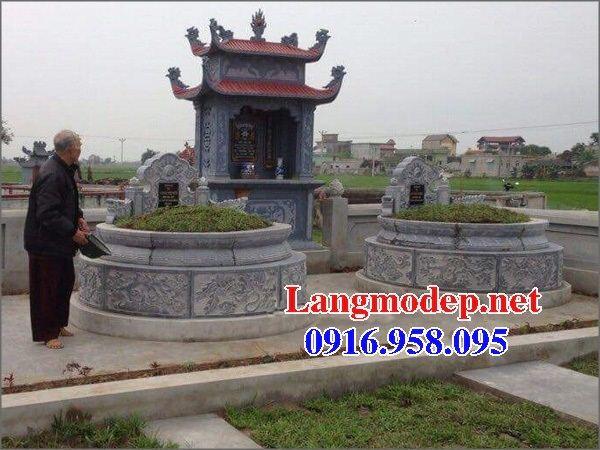Mộ cụ tổ tròn bằng đá đẹp tại Vĩnh Long