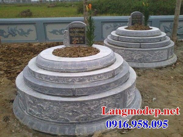 Mộ cụ tổ tròn bằng đá cất để tro hài cốt hỏa táng đẹp tại Vĩnh Long