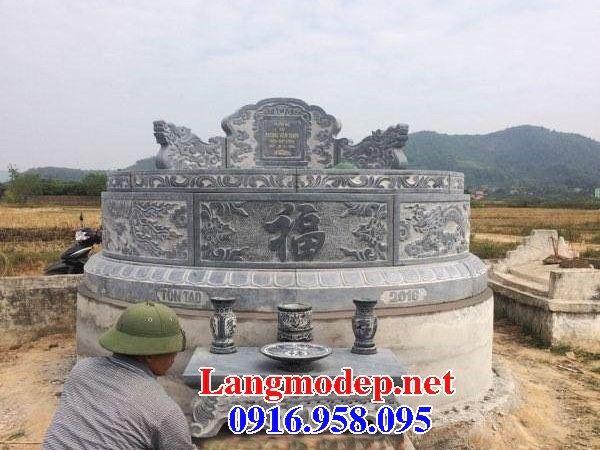 Mộ cụ tổ tròn bằng đá tự nhiên cao cấp đẹp tại Vĩnh Long