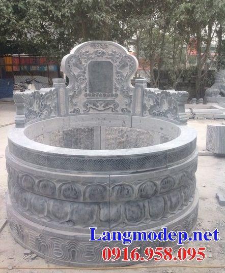 Mộ tròn bằng đá xanh nguyên khối bán tại Bạc Liêu