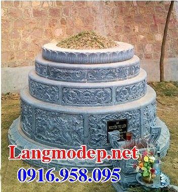 Mộ tròn chạm khắc tinh xảo bằng đá điêu khắc rồng đẹp tại Đồng Tháp