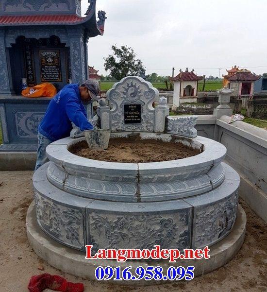 Mộ tròn chạm khắc tinh xảo bằng đá Thanh Hóa đẹp tại Đồng Tháp