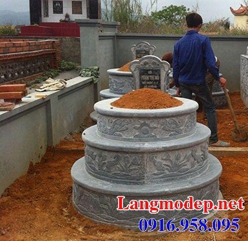 Xây làm mộ tròn bằng đá đẹp tại Long An