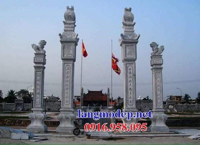 Cổng tam quan tứ trụ đền miếu bằng đá xanh tự nhiên bán tại Phú Thọ