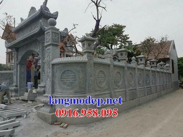 Cổng tam quan tứ trụ nhà thờ họ bằng đá xanh thiết kế cổ bán tại Phú Thọ