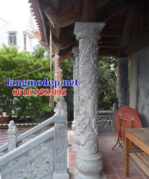 Mẫu cột đồng trụ bằng đá điêu khắc long phụng đẹp bán tại Gia Lai