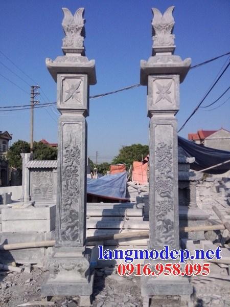Mẫu cột đồng trụ bằng đá mỹ nghệ Ninh Bình đẹp bán tại Gia Lai