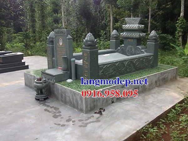 Mẫu mộ không mái đơn giản bằng đá xanh rêu nguyên khối bán chạy nhất năm 2021