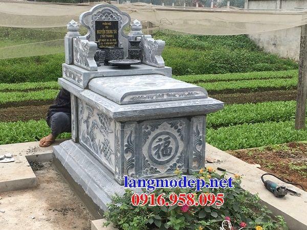 Mẫu mộ không mái bằng đá tự nhiên nguyên khối bán chạy nhất năm 2021