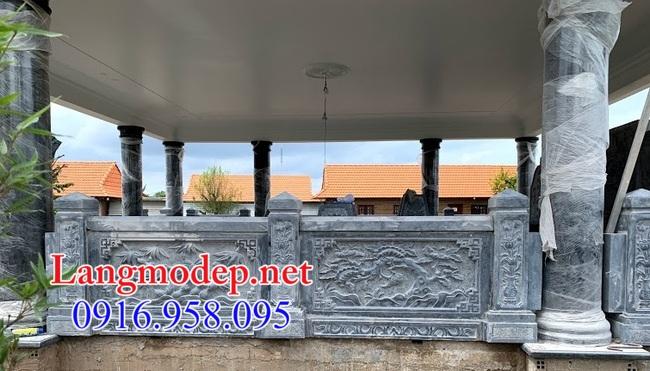 hành lang đá nhà mồ tại Bạc Liêu