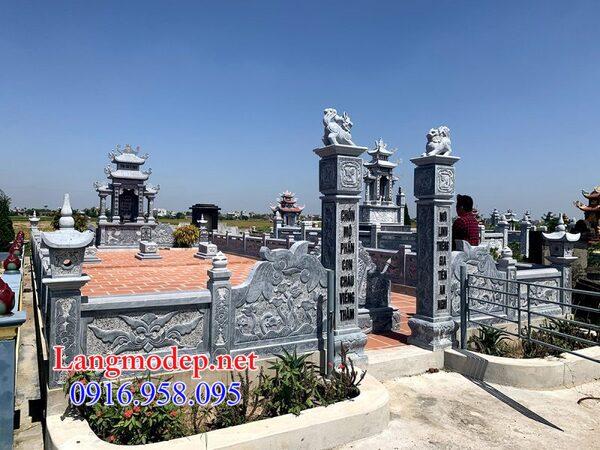 Hàng rào đá khu lăng mộ tại Tây Ninh