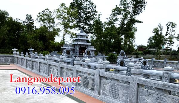 lan can bằng đá khu lăng mộ tại Hậu Giang
