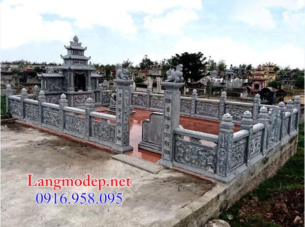 mẫu lan can đá chạm khắc đẹp lắp đặt cho khu nhà mồ ở Tây Ninh