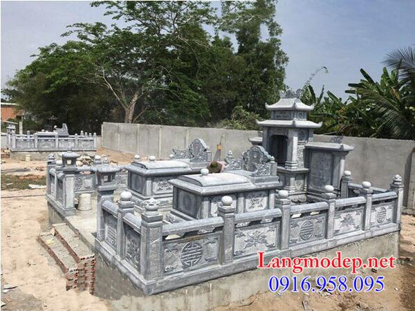 mẫu tường bao đá cho khu nhà mồ đẹp tại Bình Định