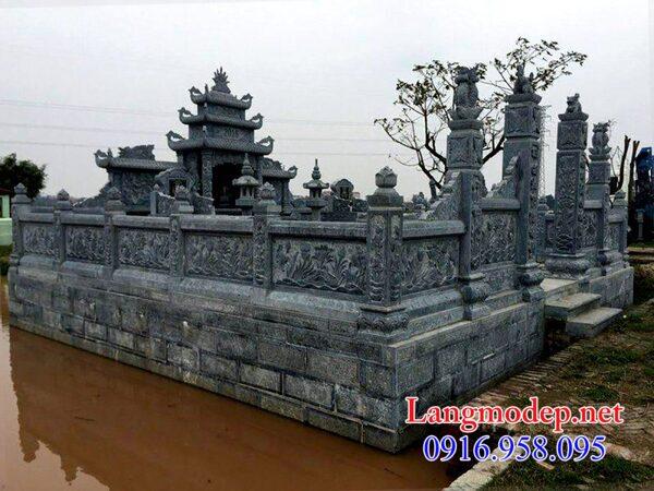 mẫu tường bao đá cho khu nhà mồ tại Bình Thuận đẹp nhất