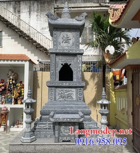 Mộ tháp đá - Mẫu mộ hình tháp Phật giáo đẹp để hũ tro cốt bằng đá 2021