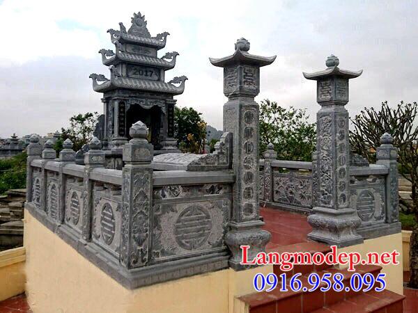Nhà mồ bằng đá xanh tại Hậu Giang