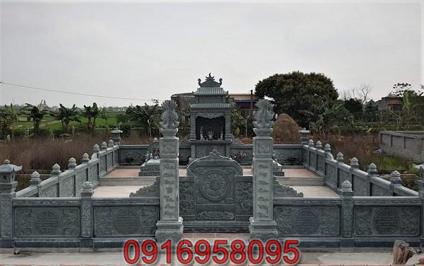Khu mộ gia đình dùng đá xanh 01
