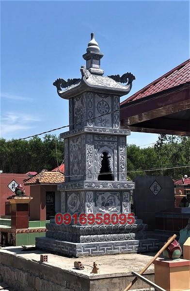 Xây tháp để hài cốt bằng đá